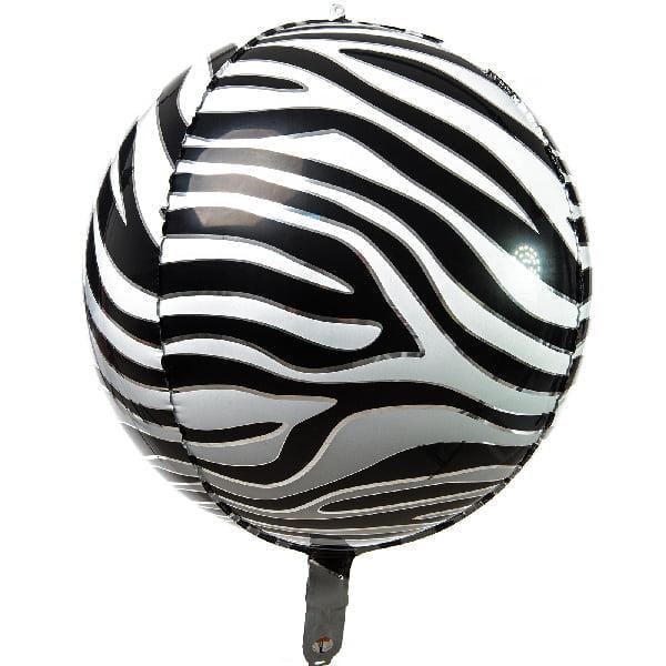 balon folie sfera zebra